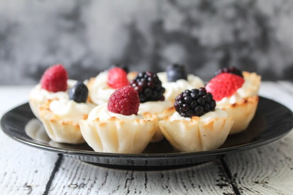 Phyllo Fruit Cups #smallbites #partyfood #snack #recipe