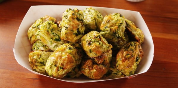 Never Feel Guilty With Zucchini Tater Tots #tatertots #recipe #snack #breakfast