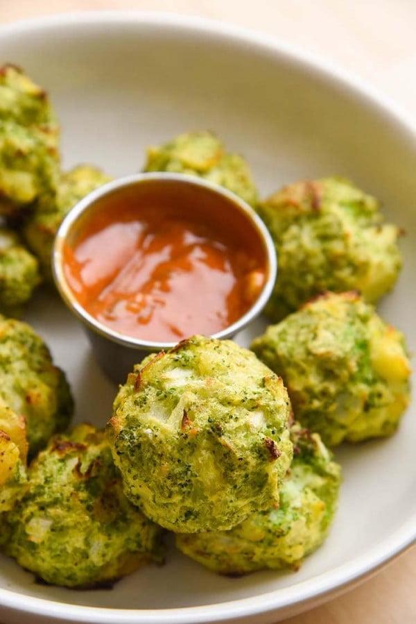Broccoli Tater Tots #tatertots #recipe #snack #breakfast