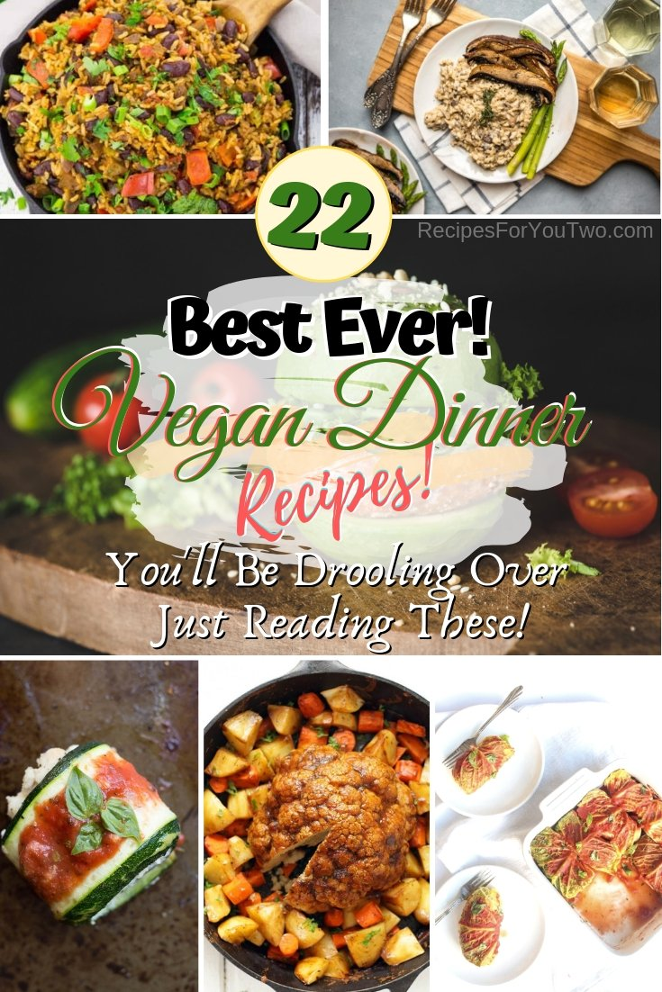 You'll be drooling over these vegan dinner recipes. You have to make them! #recipe #vegan #healthy #dinner #food