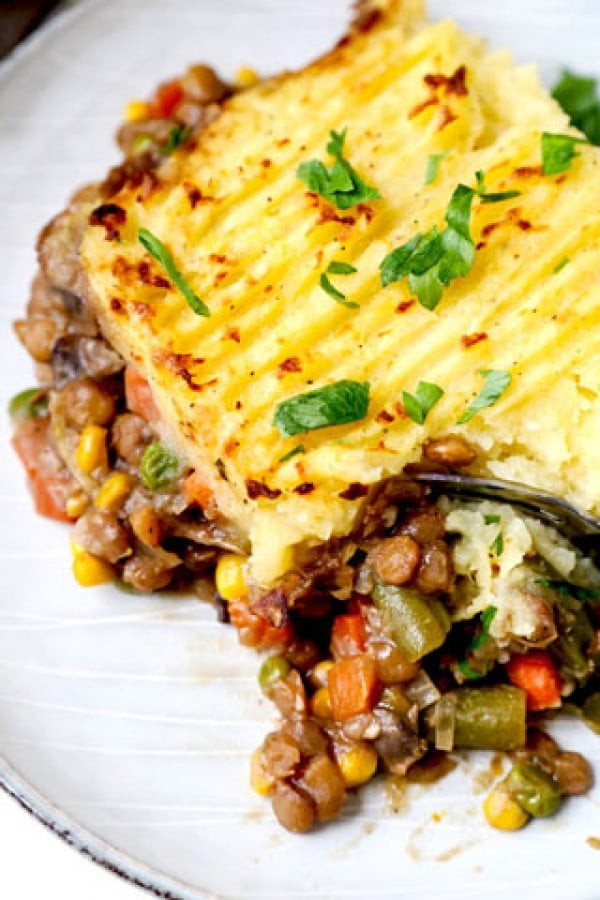 Vegan Shepherd's Pie #vegan #dinner #recipe #healthy #food