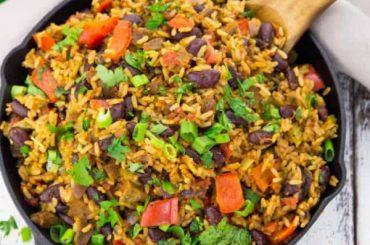 Vegan Jambalaya with Beans #vegan #dinner #recipe #healthy #food