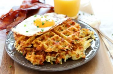 Cheesy Waffled Hash Browns #wallfeiron #wafflemaker #waffles #dinner #snacks #lunch #food #recipe