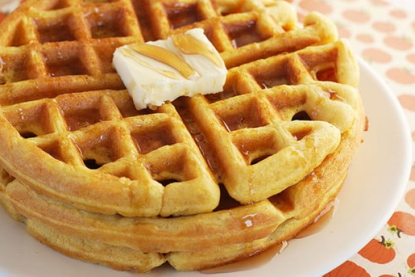 Pumpkin Waffles #wallfeiron #wafflemaker #waffles #dinner #snacks #lunch #food #recipe