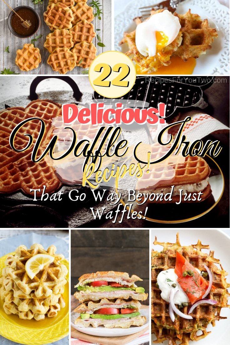 Want to experiment with your waffle maker? Here are the most delicious recipes you can make with your waffle iron and they go beyond just waffles. Great ideas! #food #recipe #waffles #waffleiron #wafflemaker #dinner #lunch #snacks #dessert