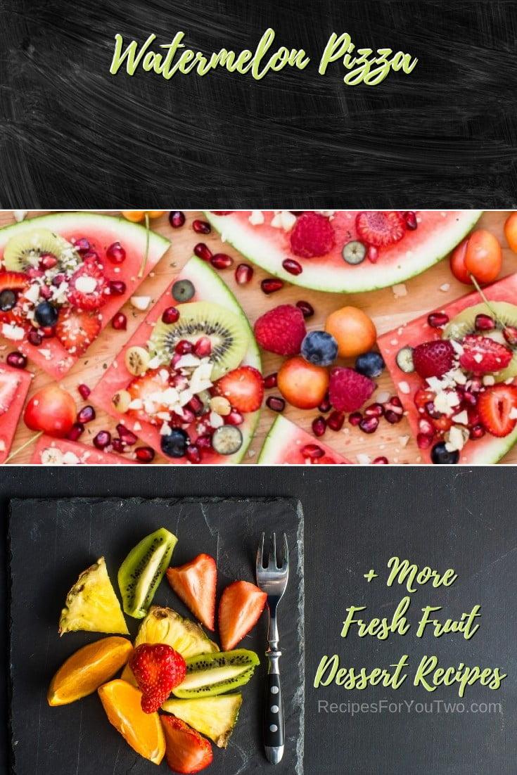 Watermelon Pizza #freshfruit #fruit #dessert #recipe #food #picnic