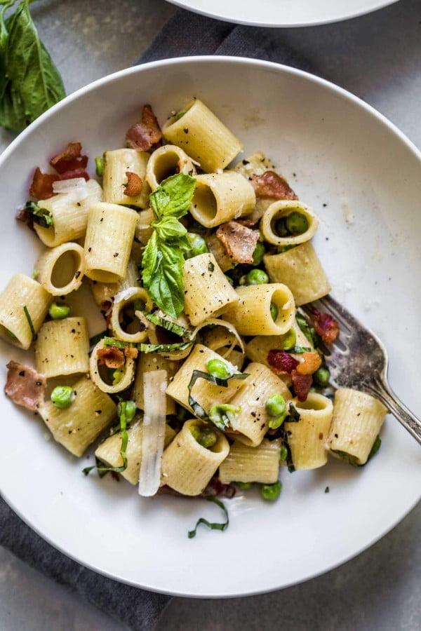 Pea & Bacon Pasta #20minute #pasta #recipe #dinner