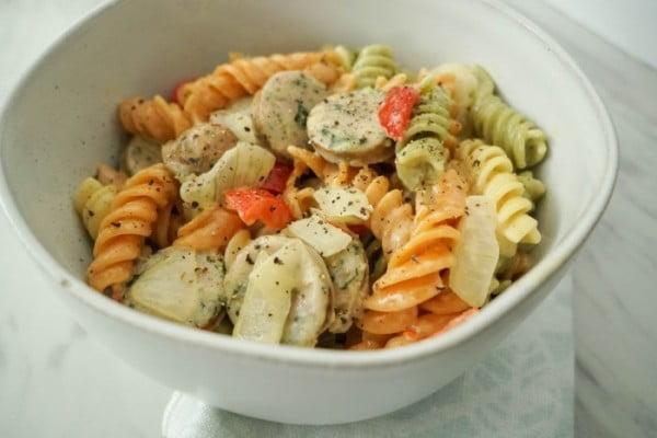 20 Minute Sausage Pepper Pasta Recipe #20minute #pasta #recipe #dinner