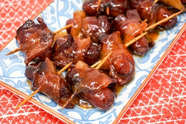 Air Fryer Bacon Wrapped Smokies #airfryer #recipe #snack