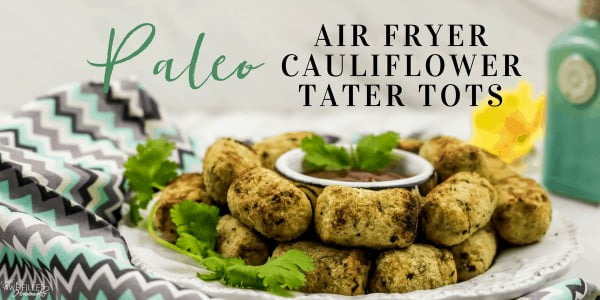 Air Fryer Paleo Cauliflower Tater Tots #airfryer #recipe #snack