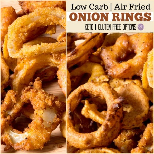 Really easy and Yummy Low Carb Air Fried Onion Rings #airfryer #recipe #snack