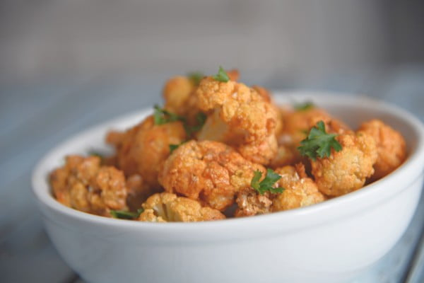 Air Fryer Buffalo Cauliflower Bites #airfryer #recipe #snack