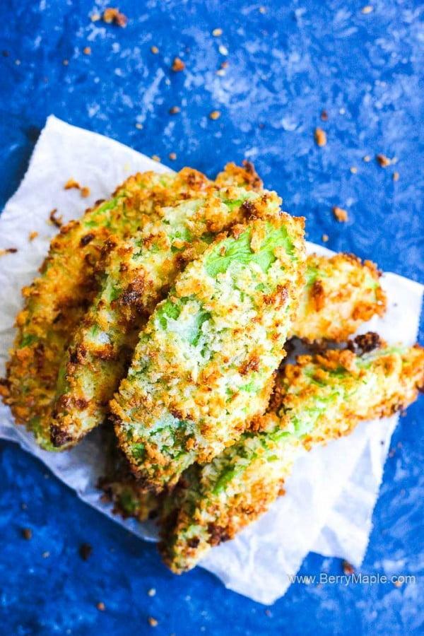 Air fryer Avocado fries #airfryer #recipe #snack