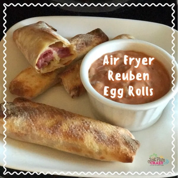 Air Fryer Reuben Egg Rolls Recipe #airfryer #recipe #snack