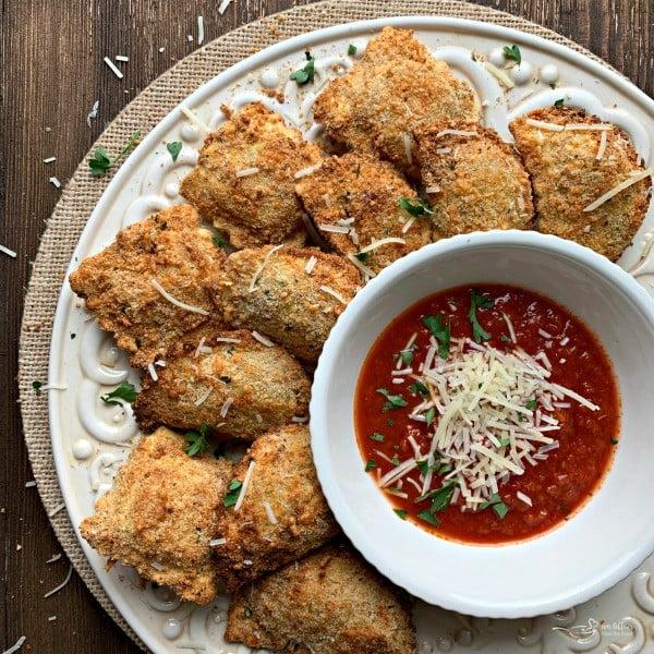 Air Fryer Toasted Ravioli Recipe #airfryer #recipe #snack