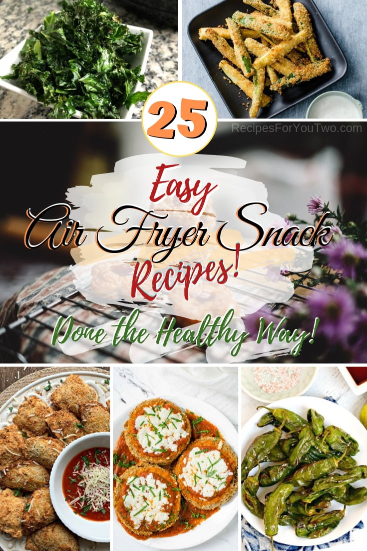 Turn your snacks into healthy snacks with your air fryer. Great recipes! #recipe #airfryer #snack