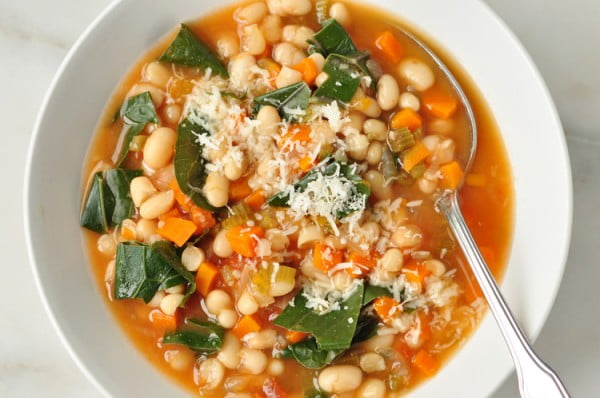Slow Cooker White Bean Stew #beans #dinner #recipe