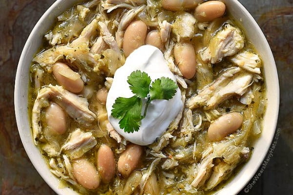 Verde Chicken Soup Recipe #beans #dinner #recipe