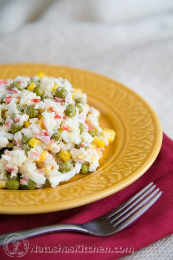 Russian Style Crab Salad Recipe #recipe #eggs #boiled #breakfast #snack