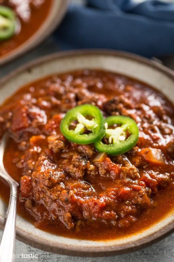 Keto Low Carb Chili Recipe #chili #recipe #dinner
