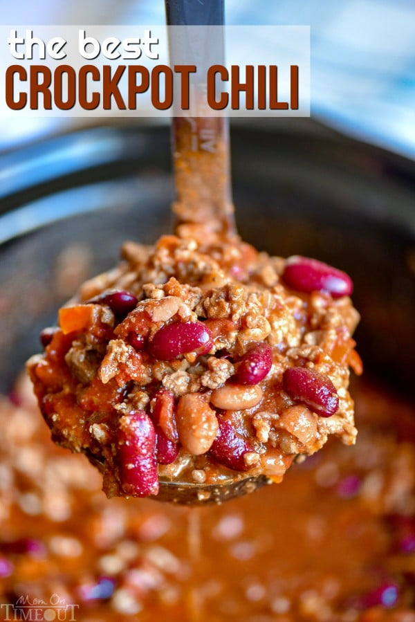 The Ultimate Crockpot Chili Recipe #chili #recipe #dinner