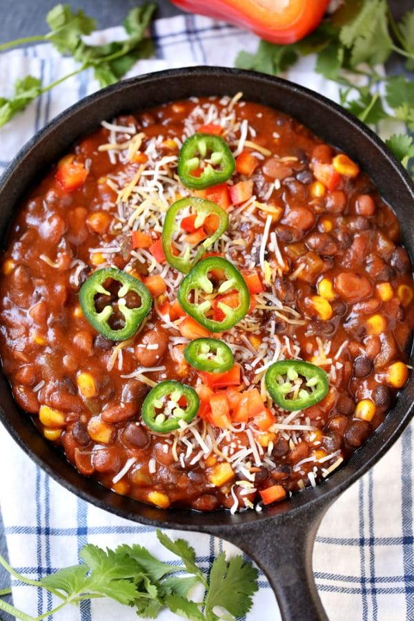 Slow Cooker Enchilada Chili Recipe #chili #recipe #dinner
