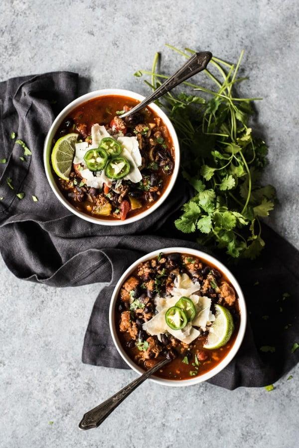 Mexican Chorizo Chili #chili #recipe #dinner