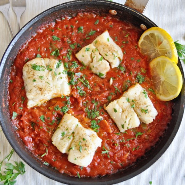 The Ultimate Spanish Cod Recipe with Tomato Sauce #cod #fish #dinner #recipe