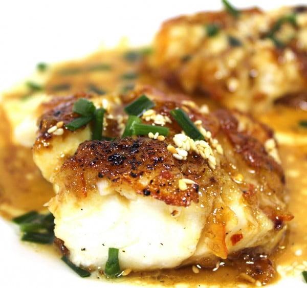 Cod with Asian Orange Glaze #cod #fish #dinner #recipe