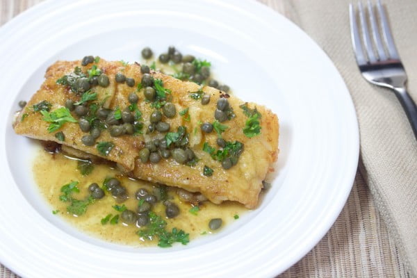 15 Minute Wild Cod Piccata #cod #fish #dinner #recipe