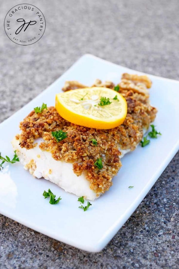 Walnut Crusted Cod Recipe #cod #fish #dinner #recipe