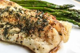 Super Easy Atlantic Cod with Garlic-Herb Butter #cod #fish #dinner #recipe