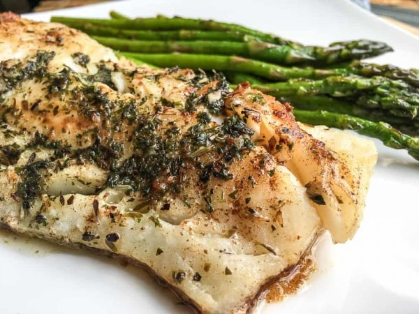 Super Easy Atlantic Cod with Garlic-Herb Butter #cod #fish #dinner #recipe