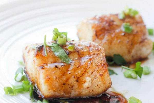 Pan-Seared Cod with Kentucky Bourbon #cod #fish #dinner #recipe