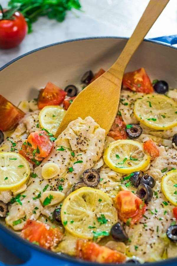 Healthy Cod Fish Skillet #cod #fish #dinner #recipe