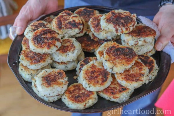Traditional Newfoundland Salt Cod Fish Cakes (Mom-in-Law's Recipe) #fish #fishcake #dinner #recipe