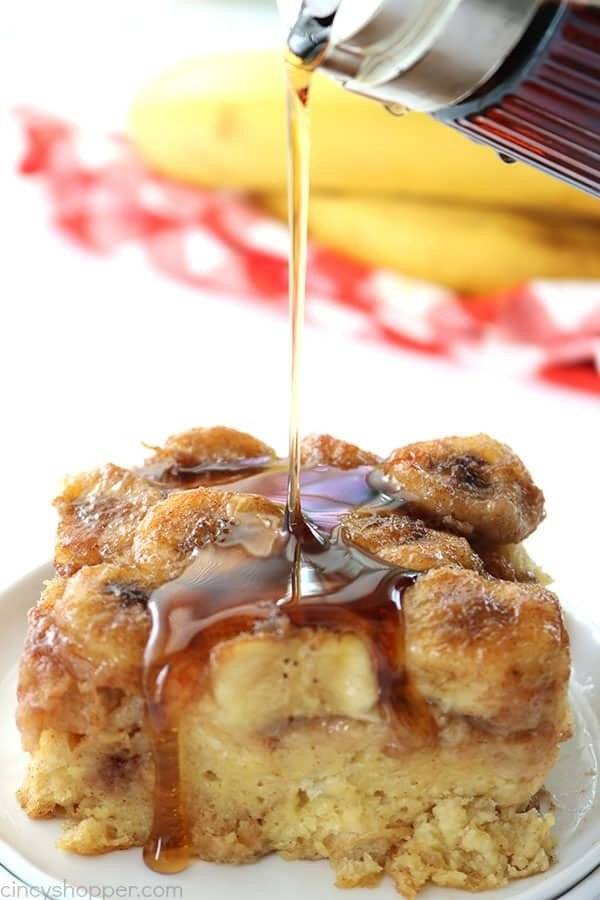 Bananas Foster French Toast Casserole #frenchtoast #bake #dinner #breakfast #recipe