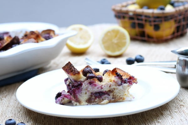 Gluten-Free Blueberry Lemon Overnight French Toast #frenchtoast #bake #dinner #breakfast #recipe