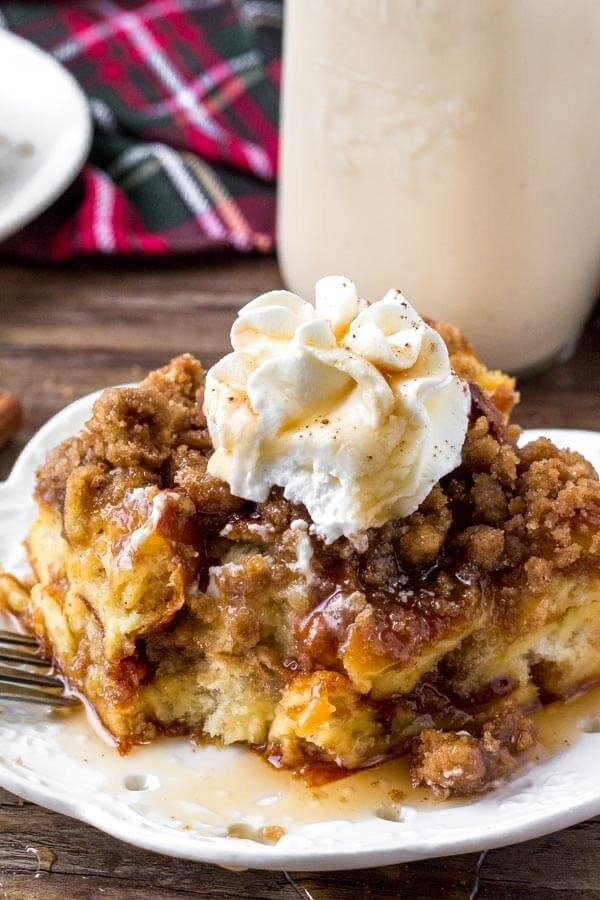 Eggnog French Toast Bake #frenchtoast #bake #dinner #breakfast #recipe