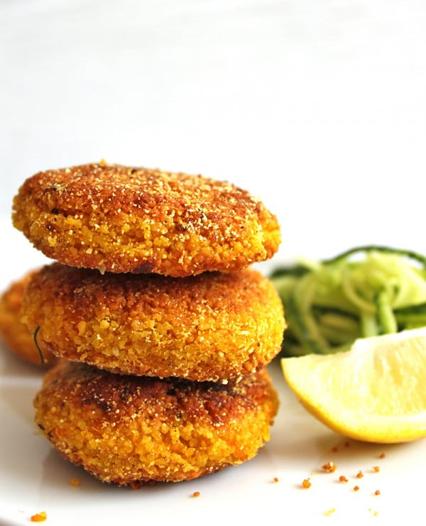 Vegan Pumpkin Couscous Fritters Recipe #fritters #recipe #dinner