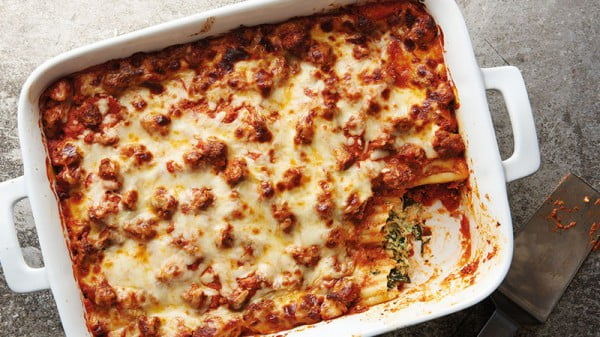 Million-Dollar Manicotti #groundbeef #dinner #recipe #beef