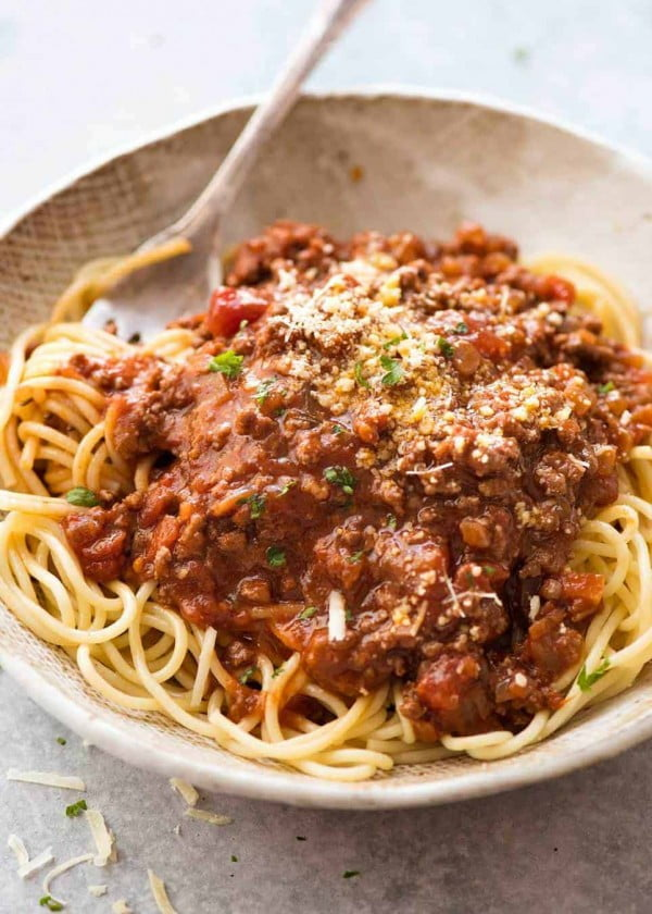 Spaghetti Bolognese #groundbeef #dinner #recipe #beef
