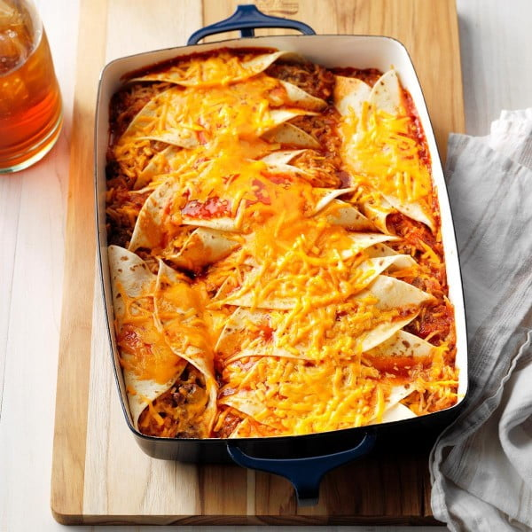 Beef 'n' Rice Enchiladas #groundbeef #dinner #recipe #beef