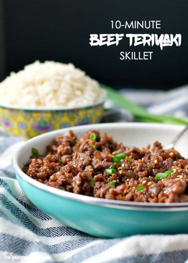 10-Minute Beef Teriyaki Skillet #groundbeef #dinner #recipe #beef