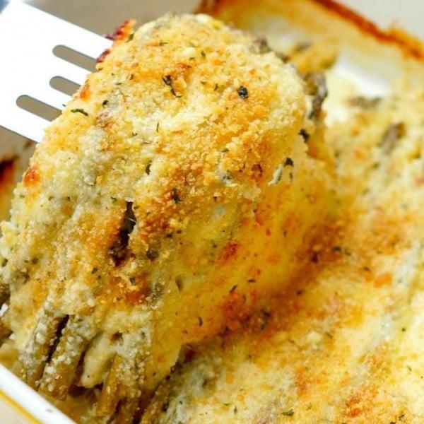 Asparagus Gratin with Lemon #easter #easterdinner #dinner #recipe #healthy