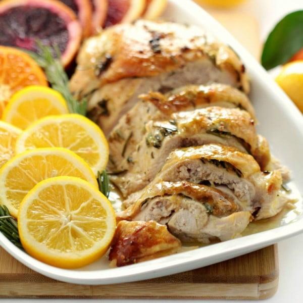 Citrus & Rosemary Roasted Turkey Breast #easter #easterdinner #dinner #recipe #healthy