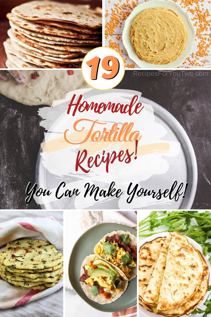 Start making your own homemade tortillas to make Mexican food healthier and tastier. Great recipes! #homemade #tortilla #mexicanfood #dinner