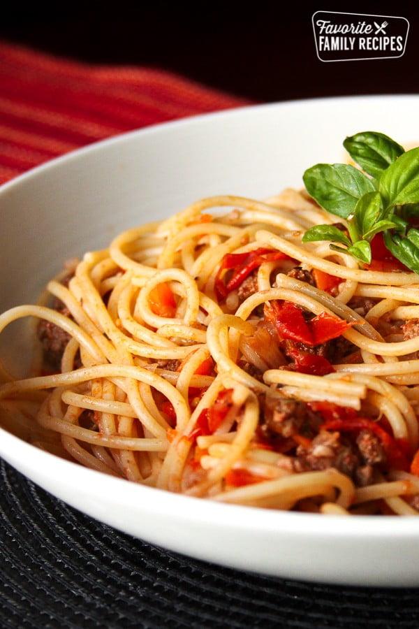 Nick's Authentic Italian Spaghetti #italian #dinner #recipe