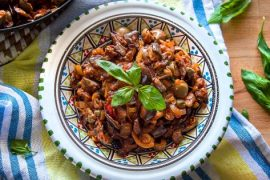 Caponata {Sicilian Eggplant Salad} #italian #dinner #recipe