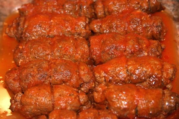 Italian Braciole Recipe with Tender Strips of Steak & Sauce #italian #dinner #recipe
